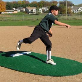 Youth baseball game mound