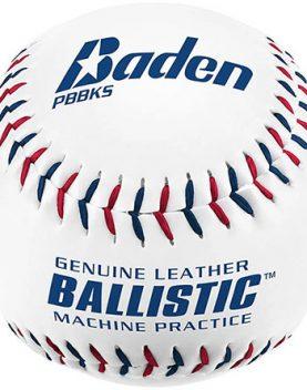 Leather pitching machine baseball