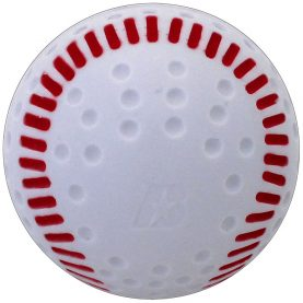White Baden dimple baseball with red seams