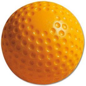 Yellow Dimpled Pitching Machine Baseball